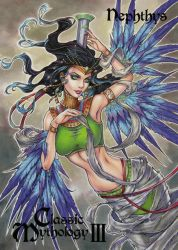 Nephthys Chase Card Art - Collette Turner by Pernastudios