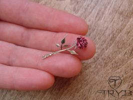 Rose of watch hands and metal by TRYBcomPL