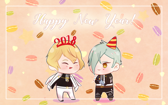Touken Ranbu - Happy New Year 2018! by pastamachine