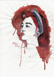 Sulli Watercolor Painting by Suyesil