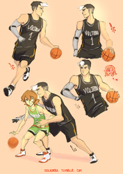 Shiro and Pidge Basket Time! by SolKorra