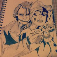 Joker and Harley by AkidnamedLon