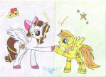 Katy And Starry-pony Friends by Piko-Ai-chan